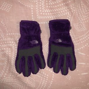 The North Face Purple Gloves